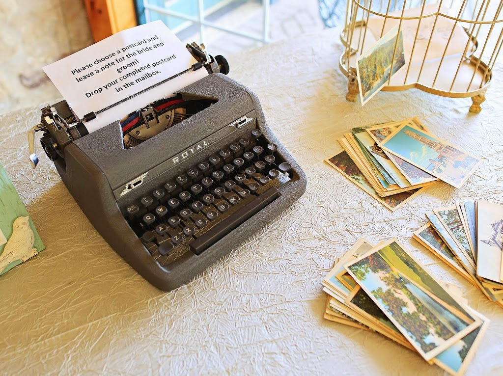 vintage typewriter wedding guestbook