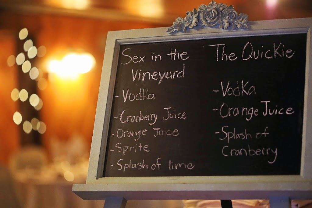 Chalkboard drink sign