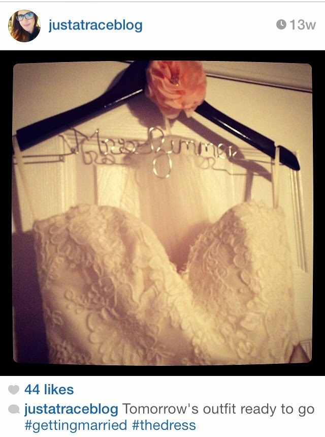 personalized bride wedding dress hanger