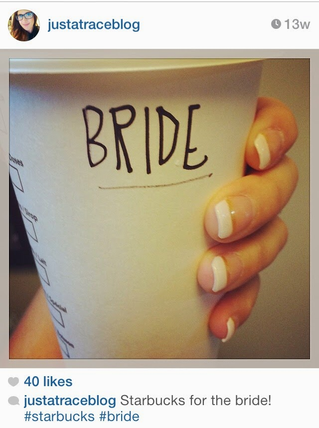 starbucks for the bride