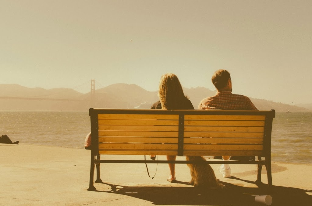 couple on bench in san francisco