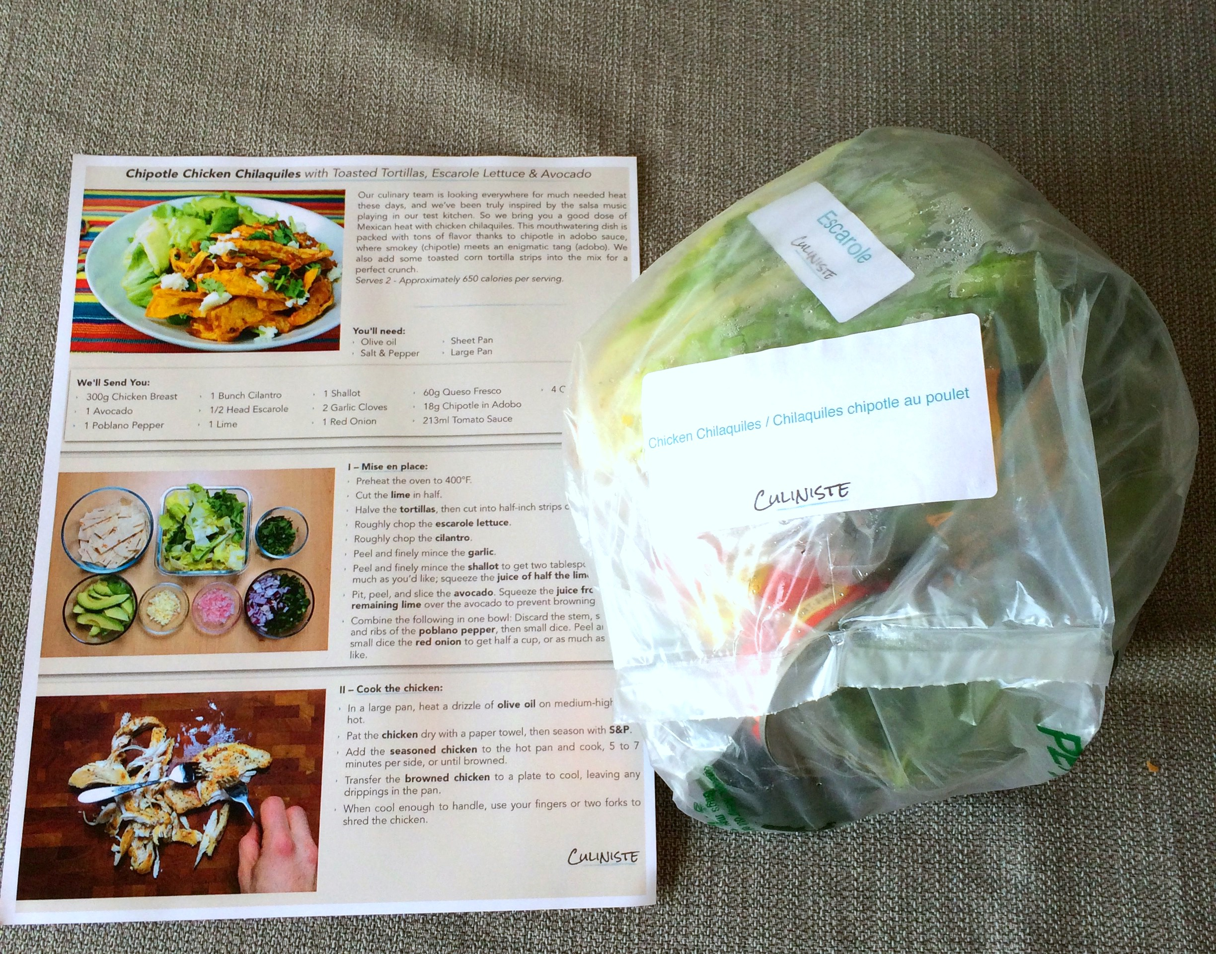 Finding my inner chef with culiniste tracey zimmer when you open your box you will find bags labelled with each meal and detailed recipe cards each recipe card has easy to follow instructions forumfinder Images