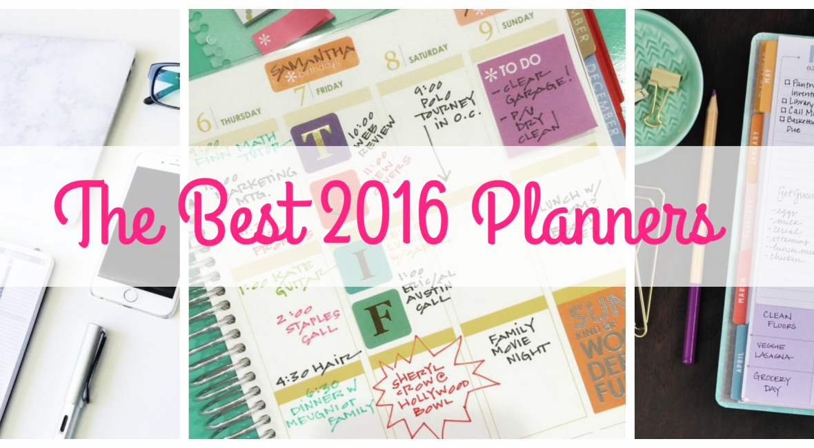 The Best 2016 Planners