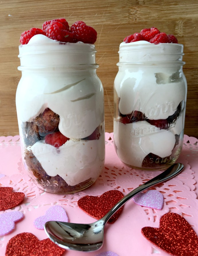 Raspberry Brownie Parfait With Mascarpone Whip Recipe — Dishmaps