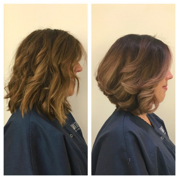 Donato Salon and Spa Hair Before and After