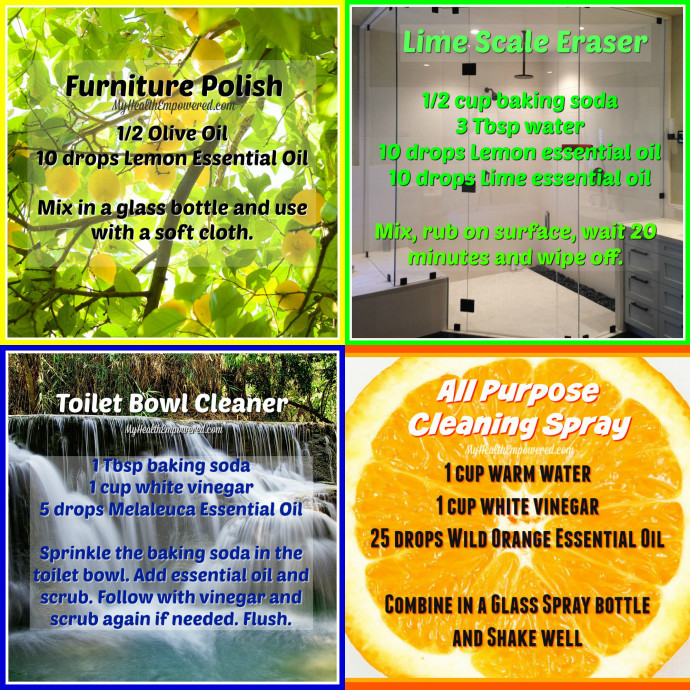 Green Cleaning recipe collage